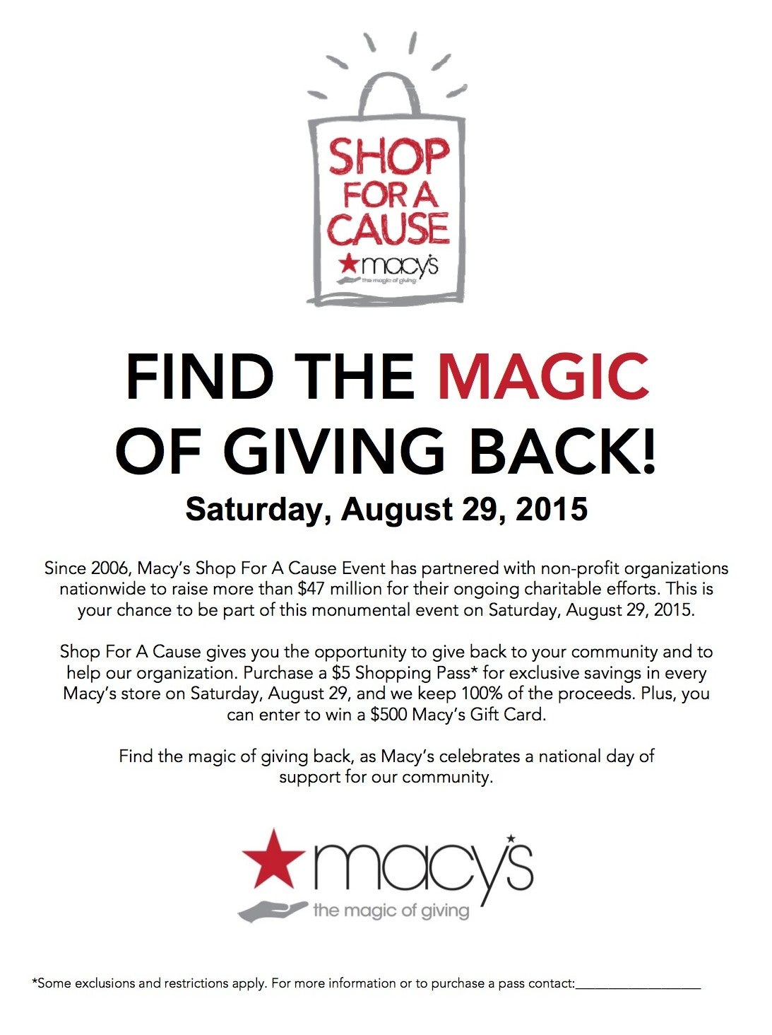 Macy\'s Shop for A Cause 2015