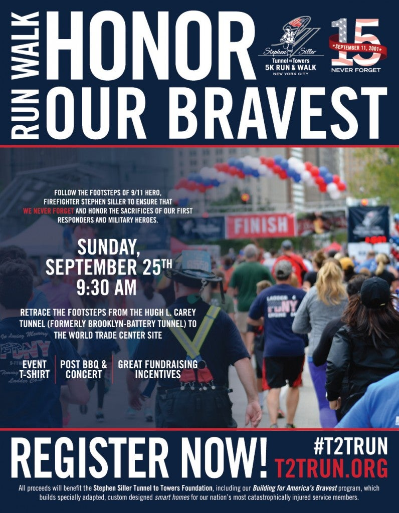 Tunnel To Towers  K Run  amp  Walk New York CityStephen Siller     Stephen Siller Tunnel to Towers Foundation