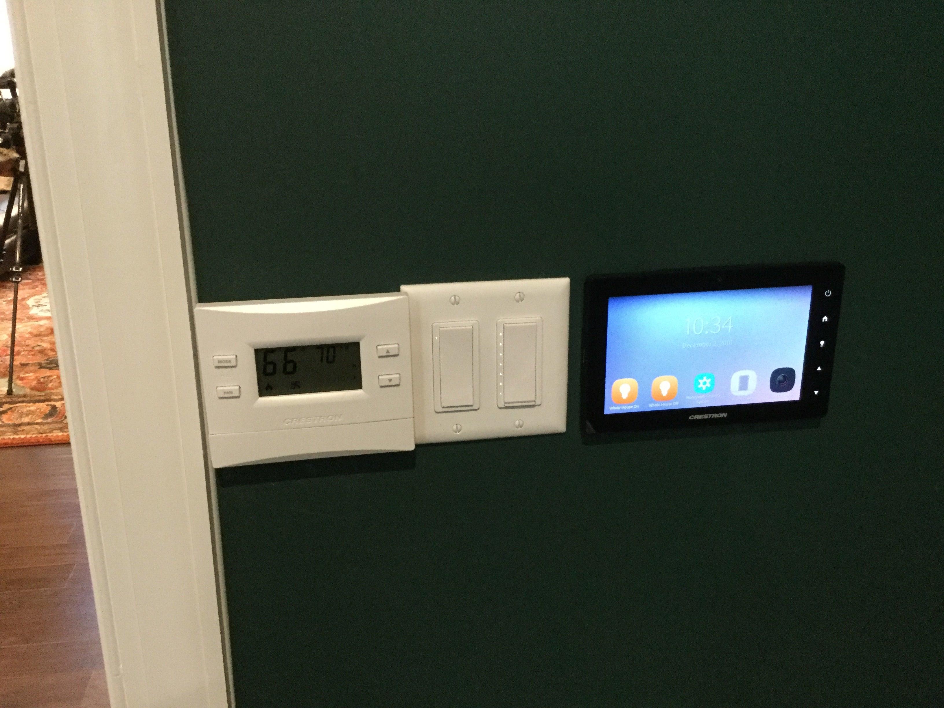Whole house controlled via smartphone or iPad