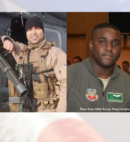 Lt. Raguso, FDNY and Tech Sgt Briggs, ANG Photo