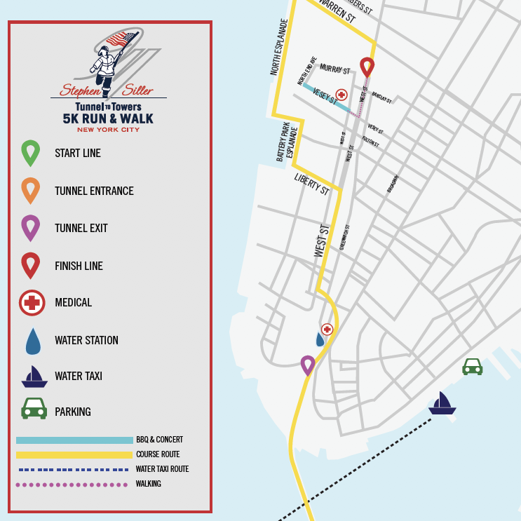 Maps and Info - Stephen Siller Tunnel to Towers Foundation