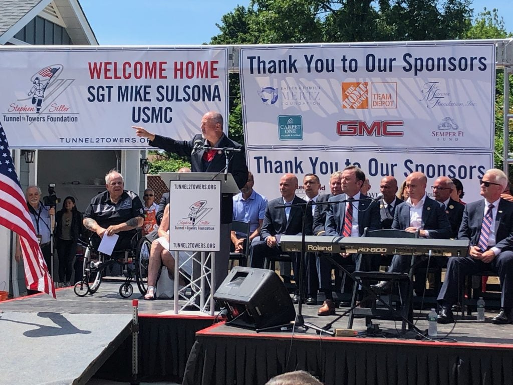Foundation Unveils Mortgage-free Smart Home to USMC SGT Michael Sulsona