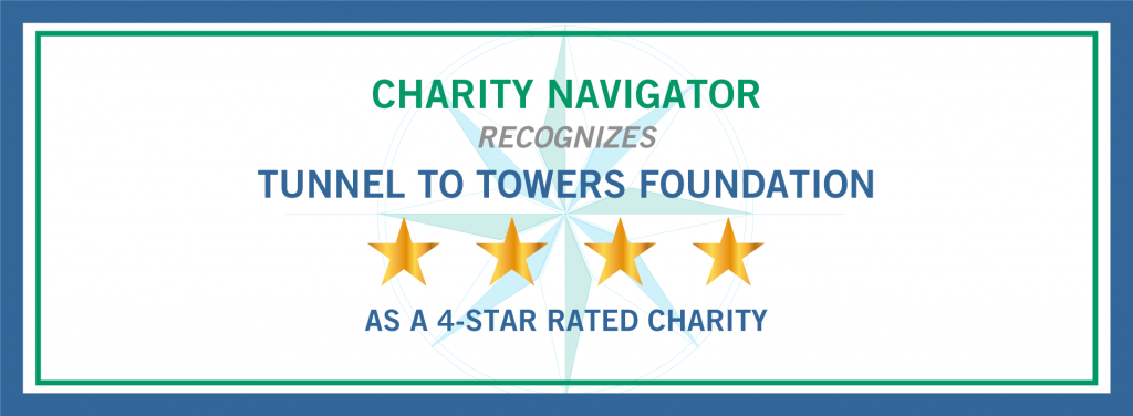 Charity Navigator Awards Tunnel to Towers 4-Stars for 6th Consecutive Year