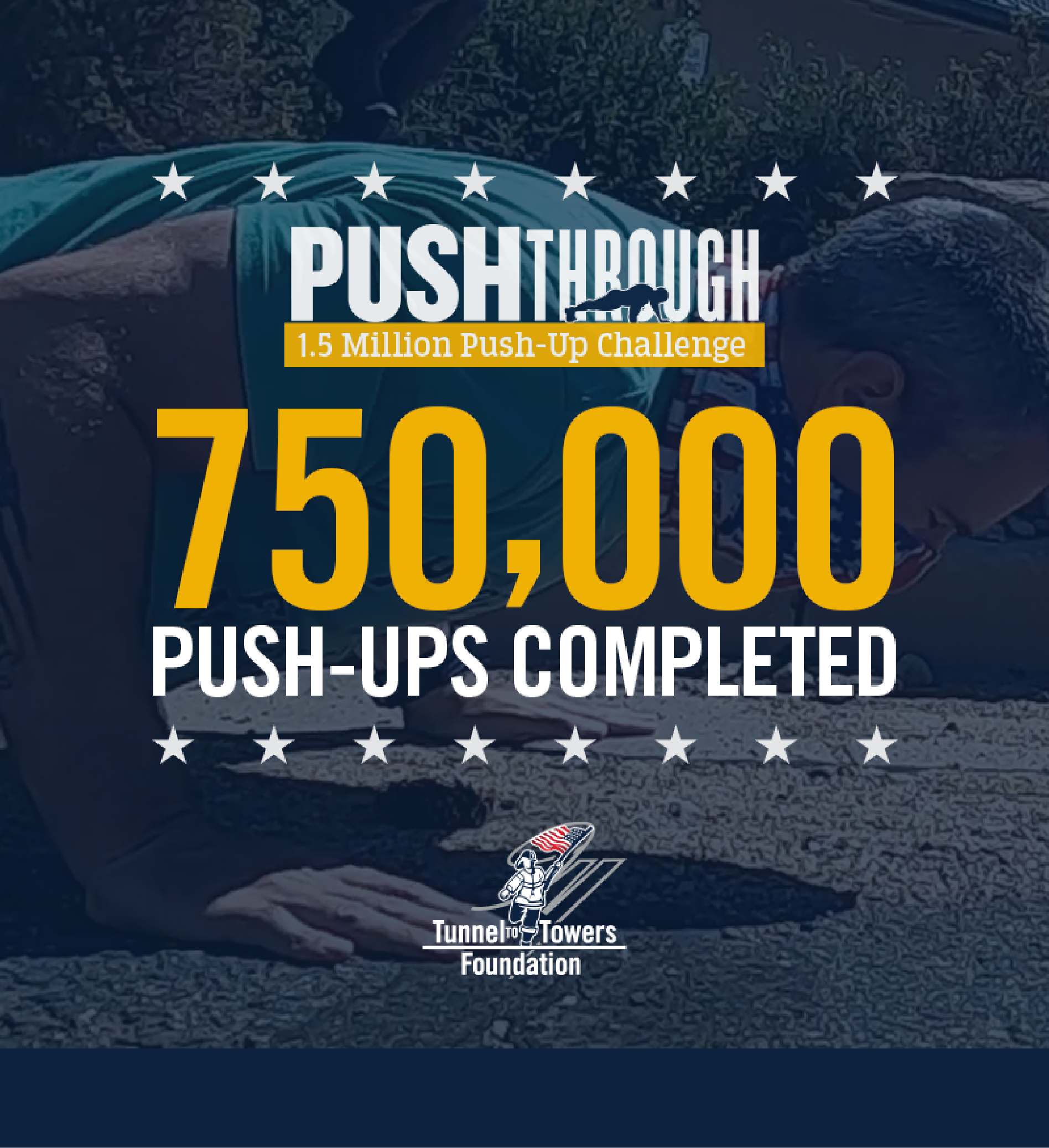 1.5 Million Push-up Challenge Photo