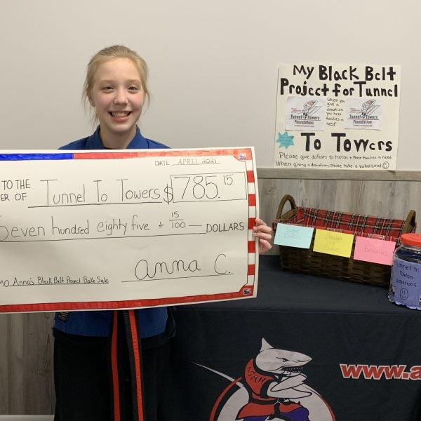 Young Tunnel to Towers Supporter and future Black Belt Raises $785